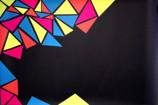 Mosaic Black Printed Backdrop For Photography - Pune Prop Store