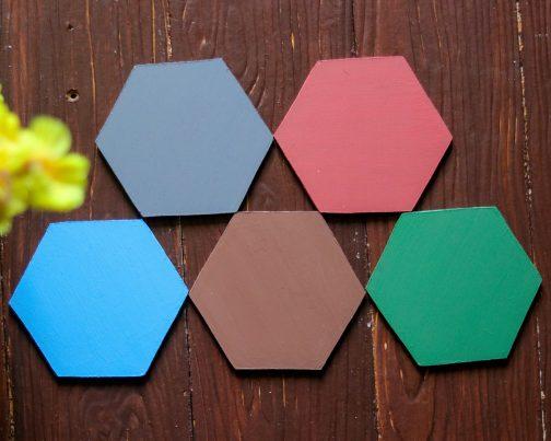 MDF Coasters- Hexagon Coasters- Pune prop store