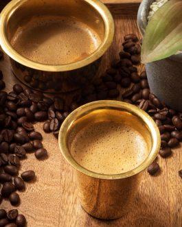 BRASS FILTER COFFEE SET