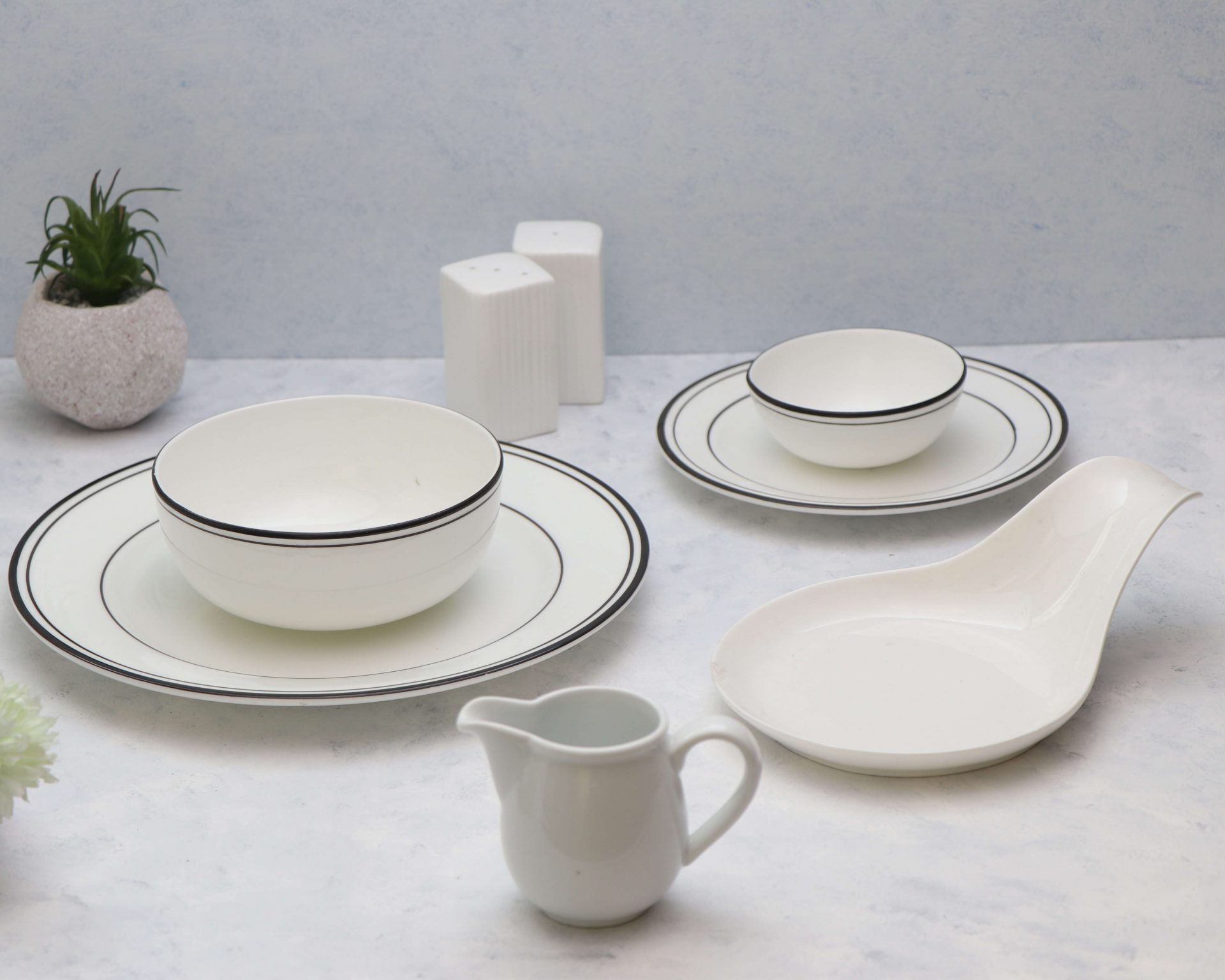 White Ceramic Props on Rent - Pune Prop Store
