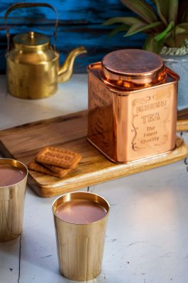 COPPER CONTAINERS FOR TEA & COFFEE