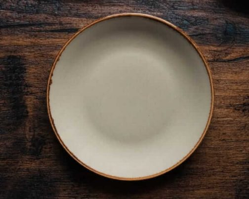 Light Grey Plate- Dinner Plate- Pune Prop Store