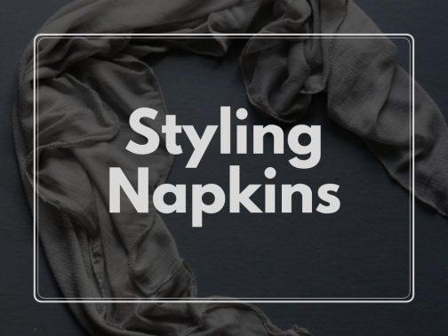 Styling napkins- Styling fabrics- Pune Prop Store