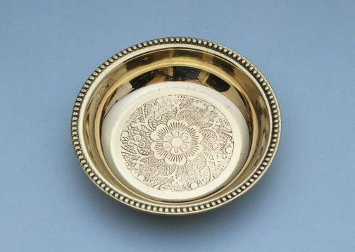 Brass Rice Plate- Dessert bowl- Pune prop store