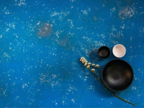 Blue hand painted MDF board- Photography backdrops