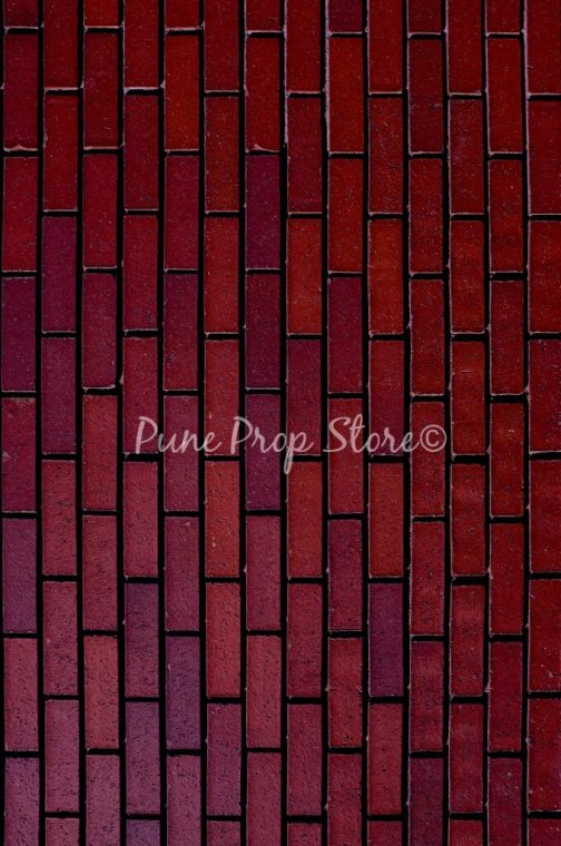 Pune Prop Store- Dark Brick Wall Printed Backdrop For Photography