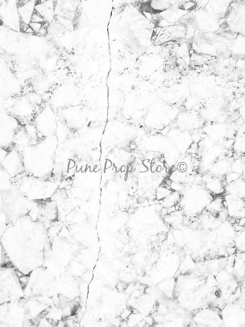 Pune Prop Store- Greyish White Marble Printed Backdrop For Photography