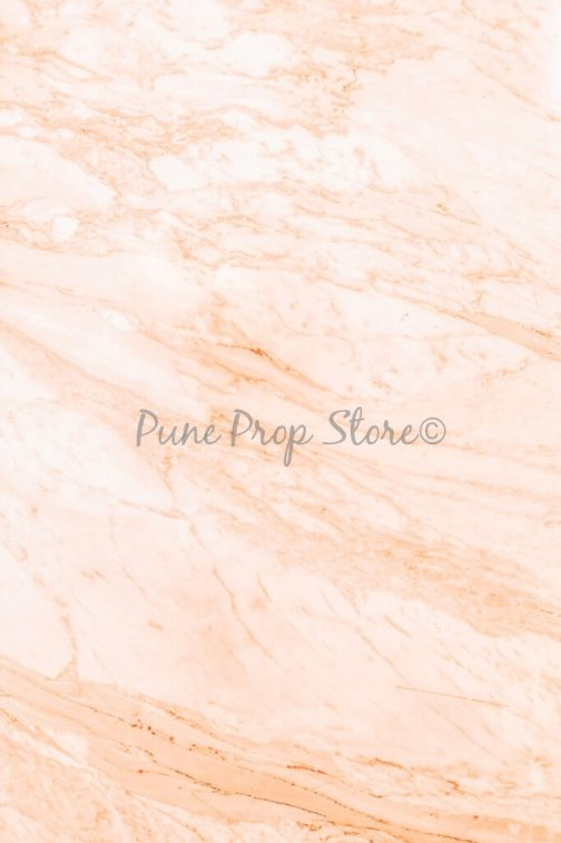 Pune Prop Store- Peach Marble Printed Backdrop For Photography