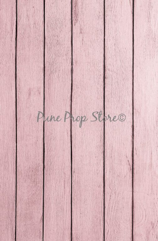 Pune Prop Store- Pink Wood Printed Backdrop For Photography