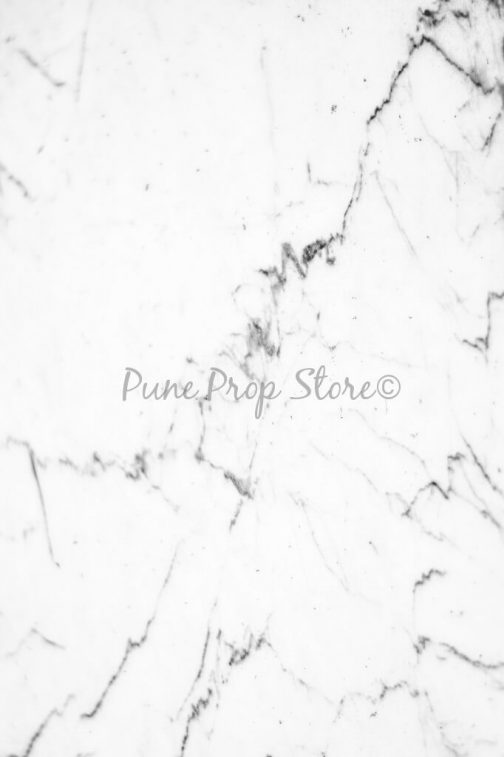 Pune Prop Store- White Marble Floor Printed Backdrop For Photography