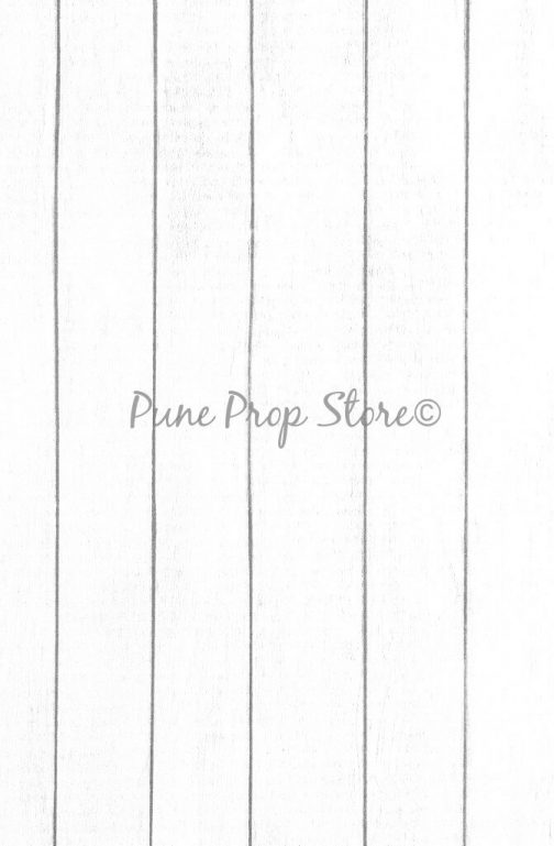 Pune Prop Store- White Wood Printed Backdrop For Photography
