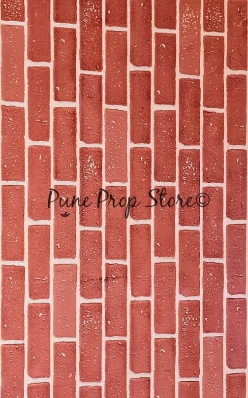 Red Brick Wall Printed Backdrop For Photography- Pune Prop Store