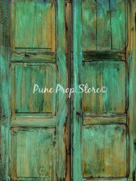 RUSTIC GREEN WINDOW PRINTED BACKDROP